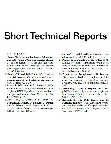printable short technical reports