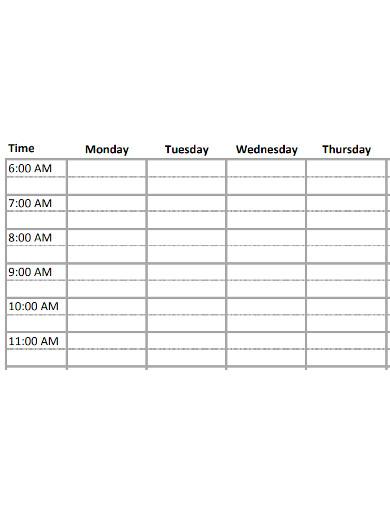 printable weekly study schedule