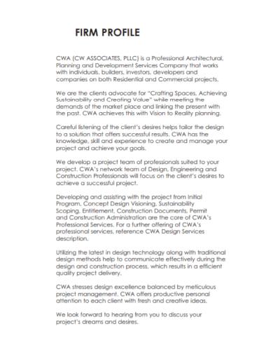 professional architecture company profile