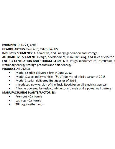 professional automotive company profile