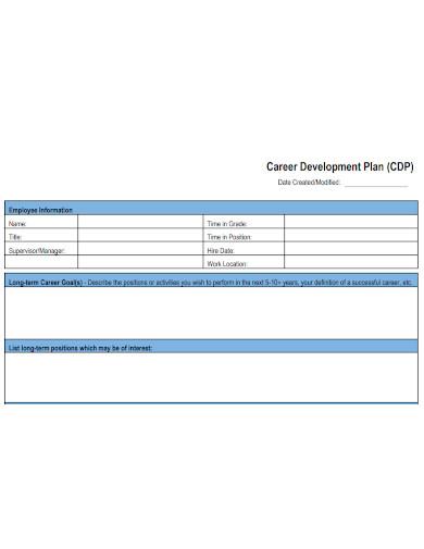 professional competency career development plan