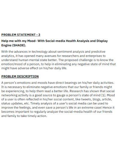 professional health problem statement