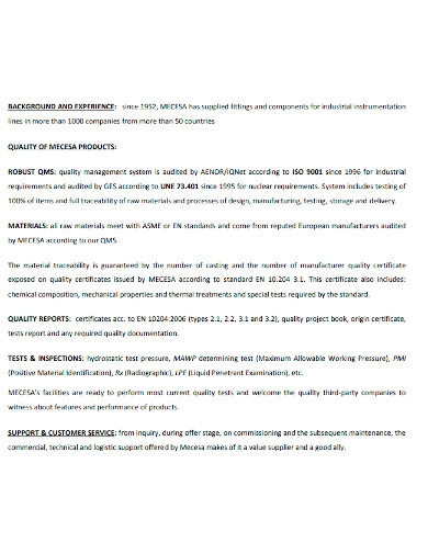 professional manufacturing company profiles