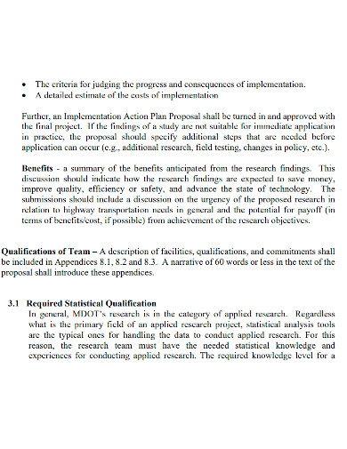 professional research proposal action plan