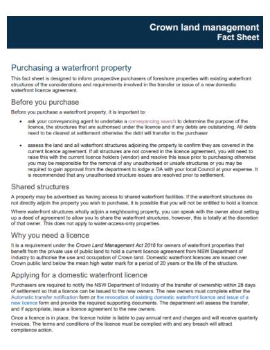 property management fact sheet