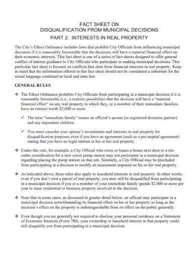 real property fact sheet