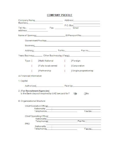 recruitment agency company profile