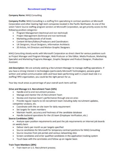 recruitment consulting company profile