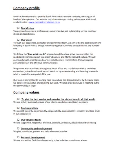 recruitment management company profile