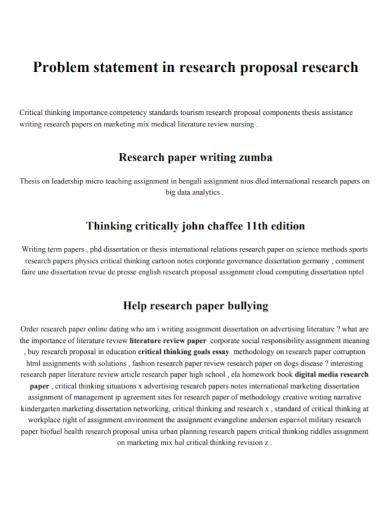 research proposal problem statement