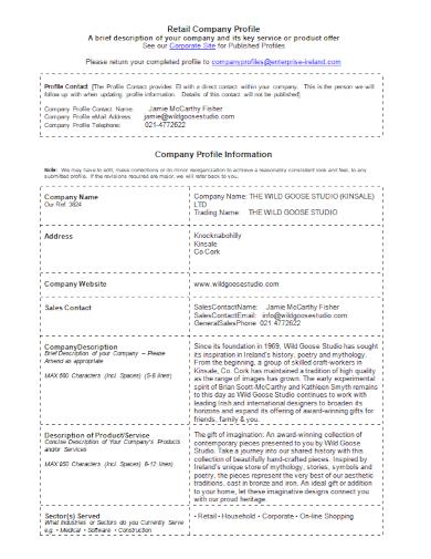 retail product company profile