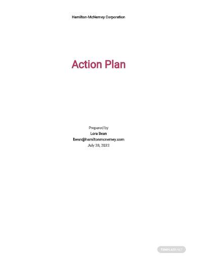risk action plan sample