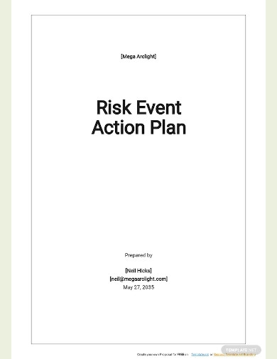 risk event action plan