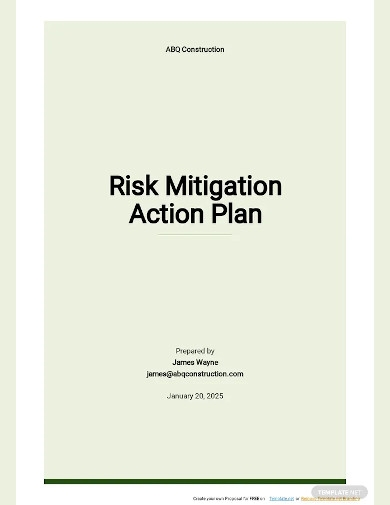 risk mitigation action plan