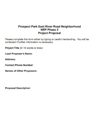road project proposal format