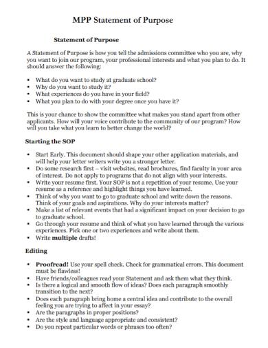 sop admission statements of purpose