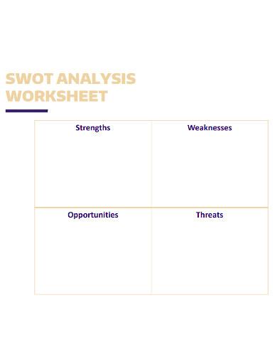swot analysis worksheet format