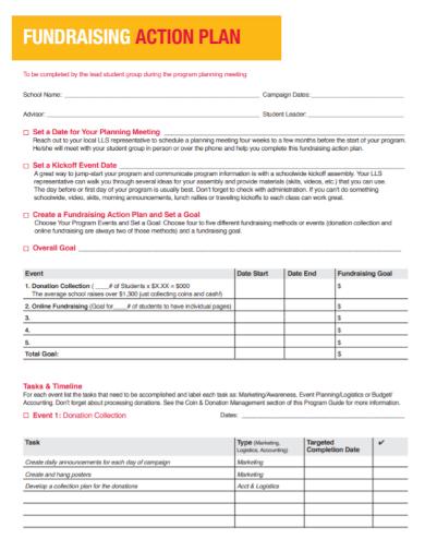 sample fundraising action plan