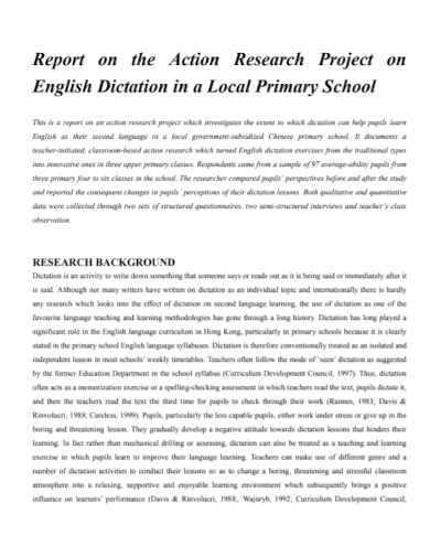 school action research report