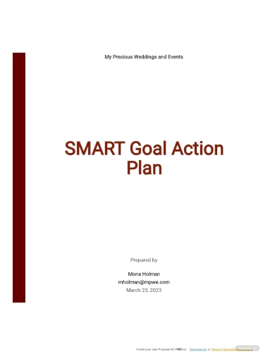 smart goal action plan template