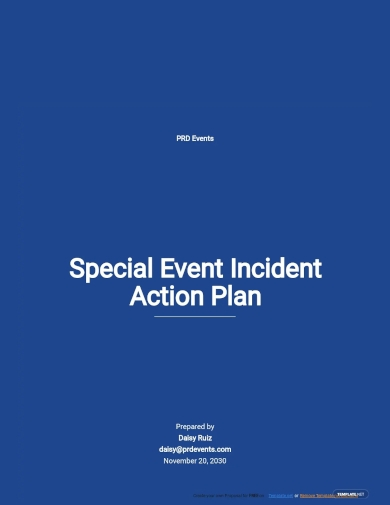 special event incident action plan template
