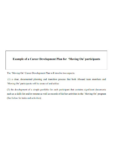 standard competency career development plan