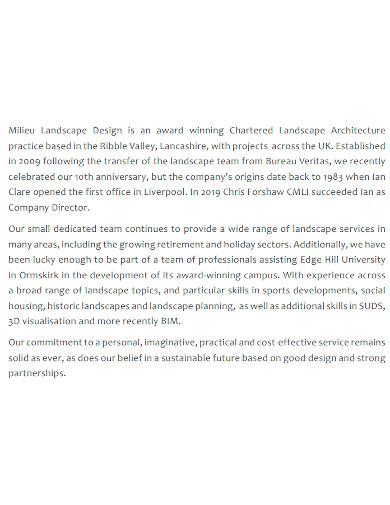 standard landscape company profile