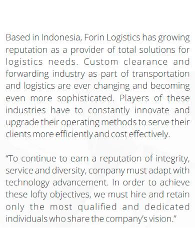 standard logistics company profile