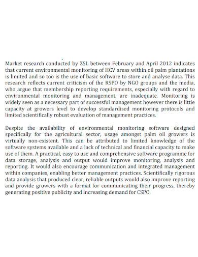 standard market research analysis report