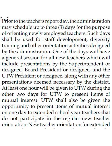 standard teacher employment agreement