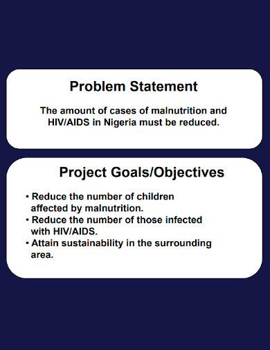 strategic health problem statement