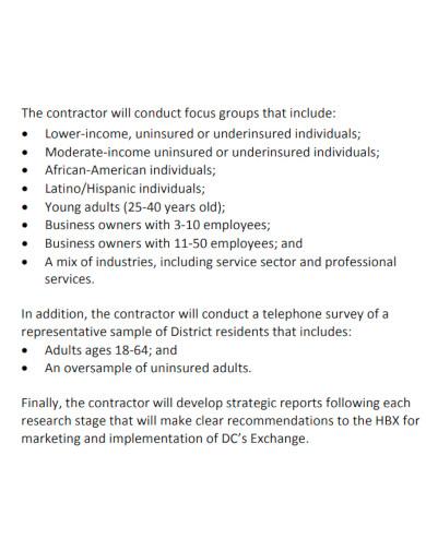 strategic market research scope of work