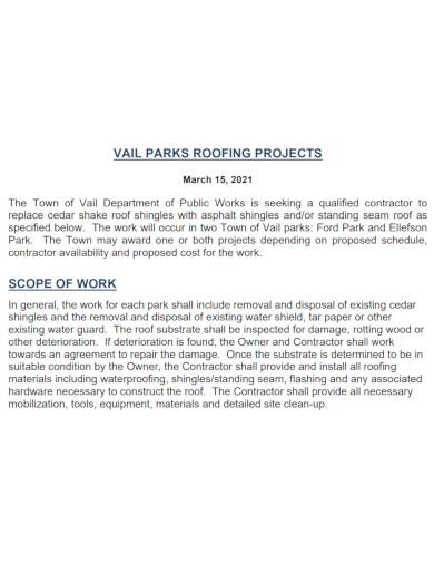 strategic roofing scope of work