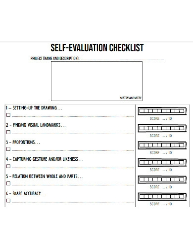 strategic self evaluation checklist