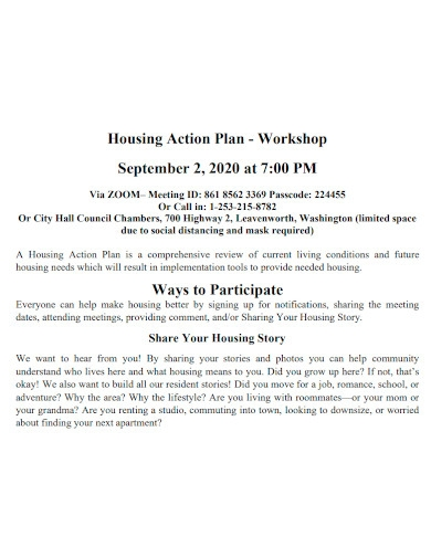 strategic workshop action plan