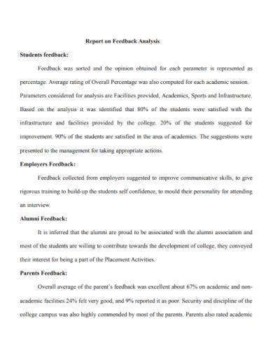 students employers feedback report