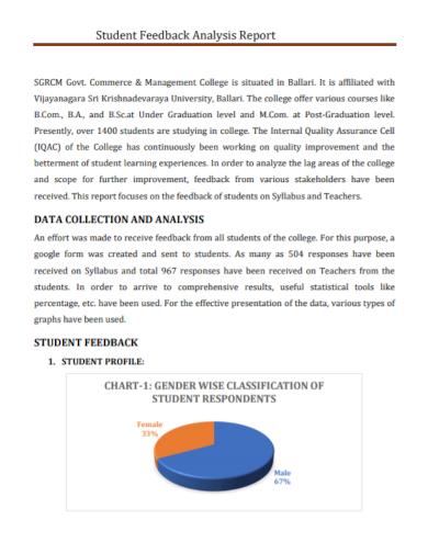 students feedback data analysis report