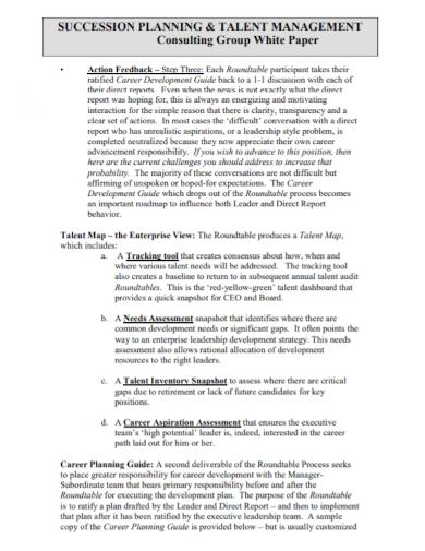 talent management action feedback plan