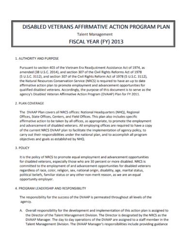 talent management action program plan