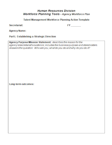 talent management agency action plan