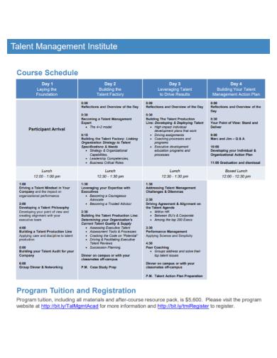talent management institute action plan