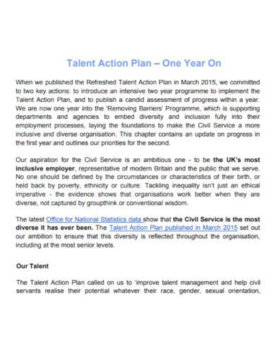 talent management service action plan