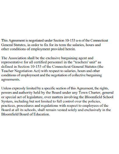 teacher employment agreement format