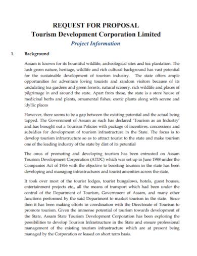 tourism development project proposal