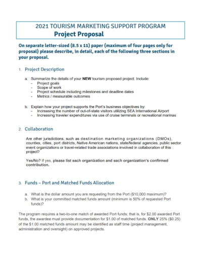tourism marketing project proposal