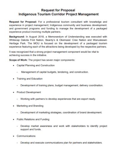 tourism project management proposal