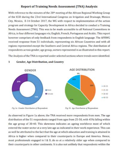 training needs assessment analysis report