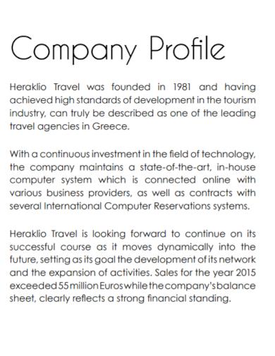 travel development company profile