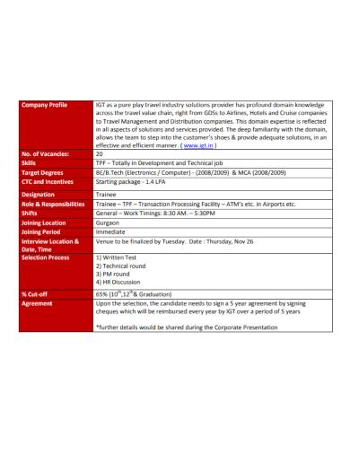 travel industry company profile