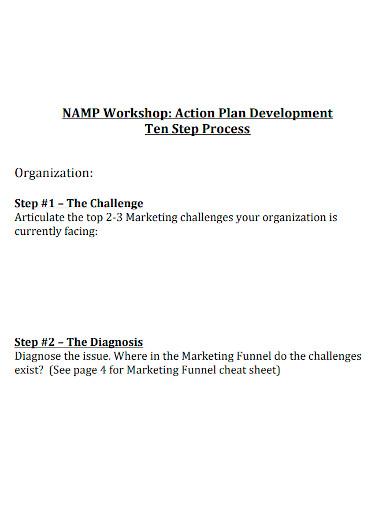 workshop action plan development